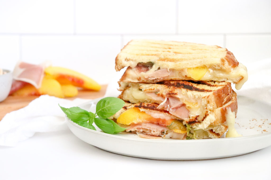 Sweet, salty, and full of cheesy goodness, this gourmet Georgia Peach Prosciutto Grilled Cheese is a grown up version of a childhood classic grilled cheese. A 15-minute meal that delivers a deli-style sandwich at a fraction of the price.