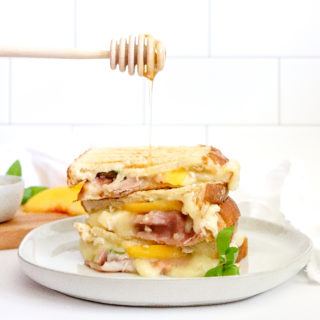 Georgia Peach Prosciutto Grilled Cheese