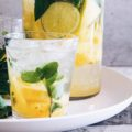 Introducing the Lemon Ginger Rogers Cocktail, destined to be a modern classic cocktail! A refreshing gin and ginger ale cocktail with ginger syrup and mint. This simple gin cocktail is perfect for summer entertaining!