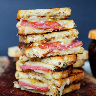 White Cheddar Salami Fig Grilled Cheese