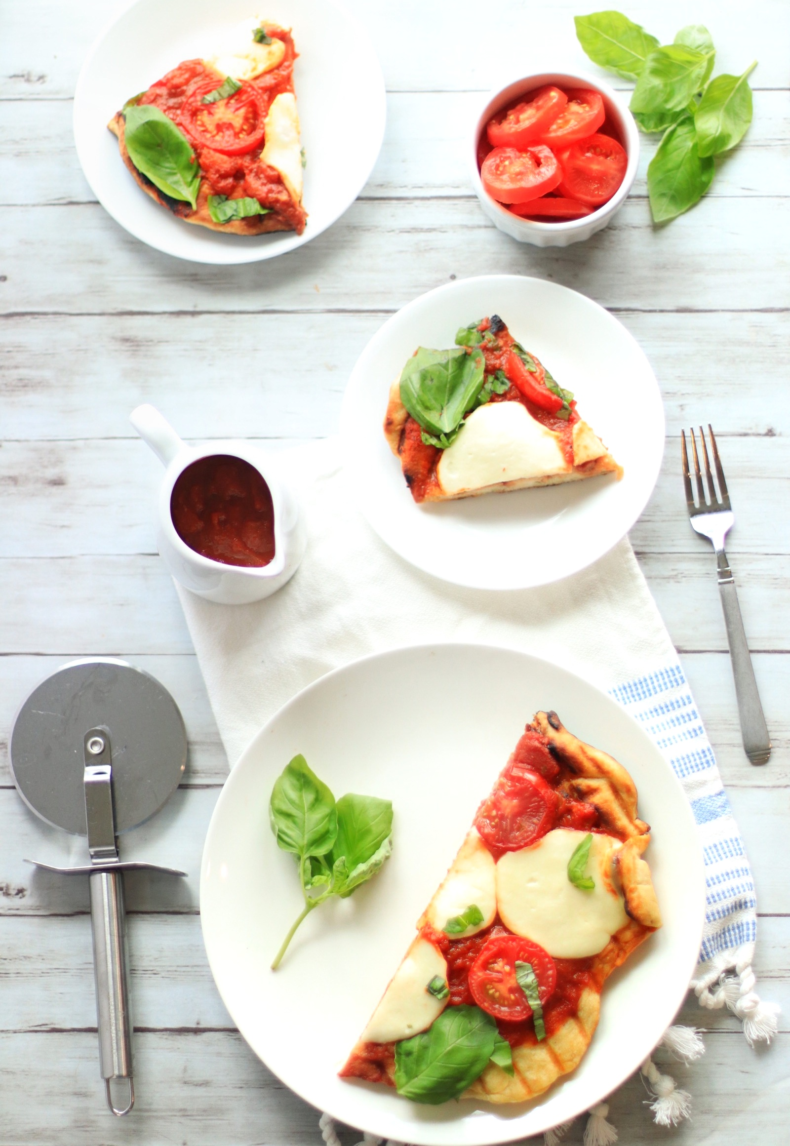 Easy Grilled Pizza | Caprese Pizza