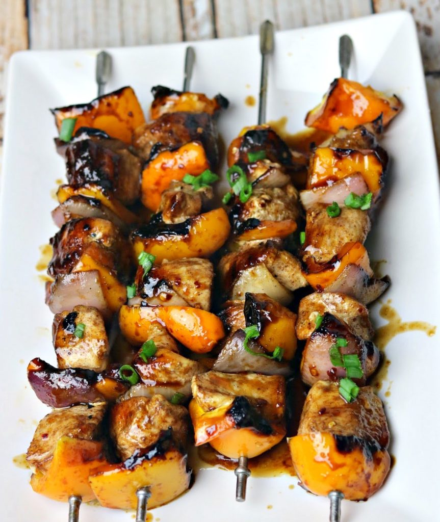 Keto Grilled Teriyaki Chicken Kabobs Indoor Grilling