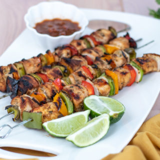 Easy Grilled Chicken Fajita Kabobs