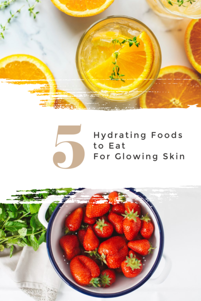 Long for dewy, supple, glowing skin? Drinking water all day can get a little boring, so turn to these whole foods for help. These 5 Hydrating Foods to Eat for Glowing Skin will help you stay hydrated which is essential to our health!