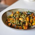 Try something unique and savory when you make this Maple Bacon Kabocha Squash Salad! Seasonal Kabocha Squash with kale, pumpkin seeds, and maple bacon deliver a fall flavor dinner or side sure to be loved by all!