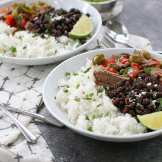 Slow Cooker Ropa Vieja is a traditional Cuban dish with tender chuck roast, bell peppers, tomatoes, olives, and spices. Ten minutes of prep time is all it takes to have this comfort food ready for a weeknight dinner after a busy day. Serve with rice and black beans for a meal that never disappoints.