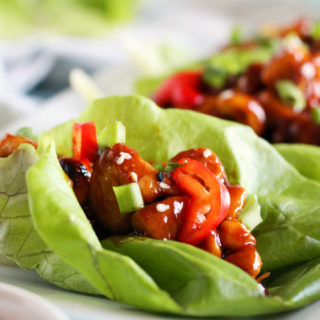 Craving Asian cuisine without the takeout price tag? Try these simple Cashew Chicken Lettuce Wraps; a budget-friendly, one-pan, 30-minute meal. Perfect for a busy weeknight meal, this dish is a healthier classic packed with Asian-inspired flavor!