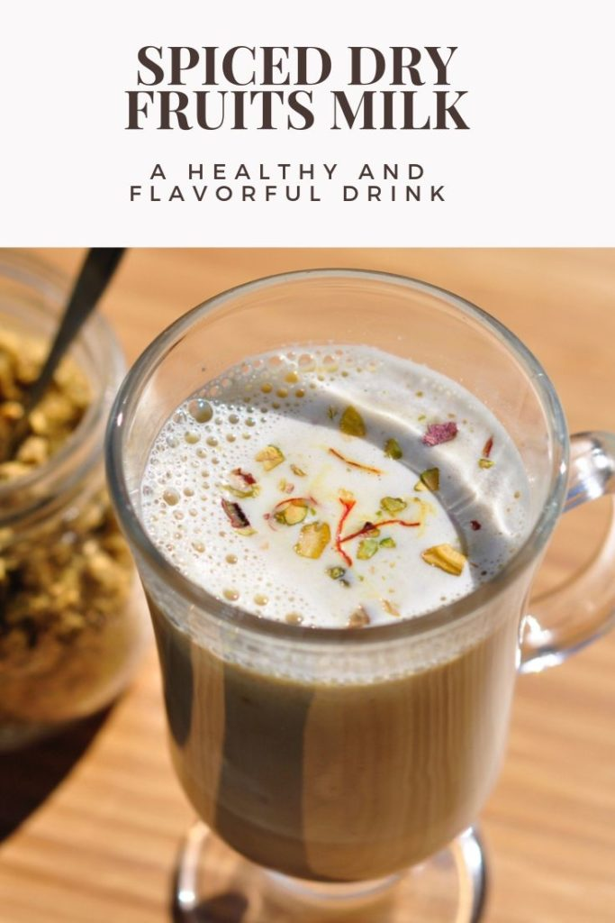 This Cardamom Spiced Dry Fruits Milk is a healthy and delicious sleep aid. With the addition of saffron, this warm bedtime drink also helps fight cough and asthma symptoms. This classic Indian drink has been helping people get a good night's sleep for years!