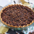 Why settle for a store-bought, classic pecan pie when you can easily make this homemade Chocolate Pecan Pie instead? The chocolate, brown sugar, and corn syrup lend plenty of sweetness to the pecan pie filling. You'll find that a small slice is all you need to satisfy your sweet tooth!