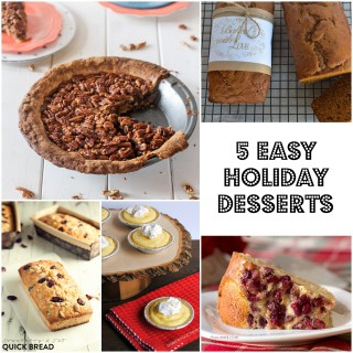 5 Easy Holiday Dessert Recipes {Roundup}