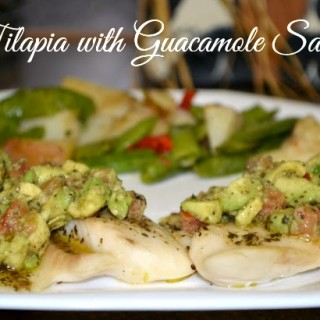 Tilapia Fillets with Guacamole Salad