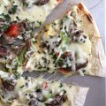 Grilled Philly Cheesesteak Pizza is perfect for summer