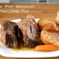 Heart Healthy Crock Pot Brisket and Vegetables