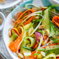 Ribbon Salad with Lite Sesame Soy Dressing