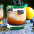 Easy Blackberry Lemon Shrub - closeup