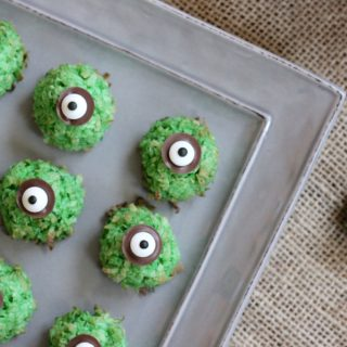 Coconut Lime Macaroon Eyeballs