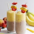 This Layered Strawberry Banana Mango Smoothie is packed with delicious flavors and is made with simple ingredients you likely have on hand. You'll never get bored with this simple smoothie recipe because when one flavor ends, another begins!