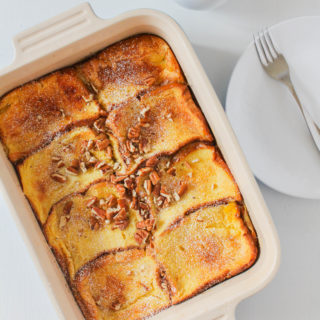 Caramel Brioche Baked French Toast