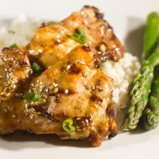 Grilled Soy Garlic Chicken Thighs