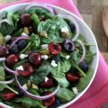 Turn your seasonal farmers market produce into this delightful Cherry Goat Cheese Spinach Salad this weekend. Fresh, tart cherries, tangy goat cheese, and salty pistachios pair together in a way guaranteed to impress even your pickiest guests.