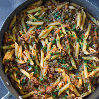 One-Pan Beef Penne Bolognese Recipe