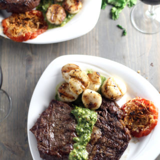 Surf and Turf for Two {Steak Scallops}