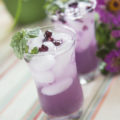 Enjoy sipping this regionally-inspired Huckleberry Honey Mojito recipe full of fresh mint while you relax with friends. A beautiful, purple cocktail sure to impress friends!