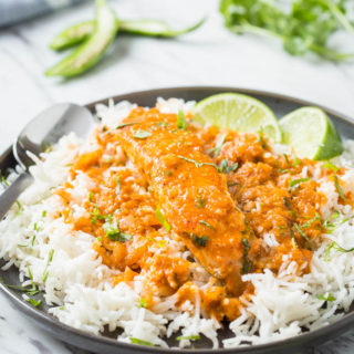 30-Minute Salmon Coconut Curry