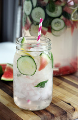 If glowing skin is what you desire, you'll love this nutrient-rich Fresh Mint Cucumber Melon Detox Water! Easy to make and even easier to sip, you'll love the way this detox drink makes you feel inside and out!